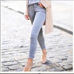 Frame Denim gray skinny jeans